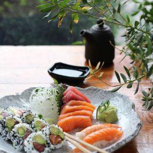 sushi plato decorado
